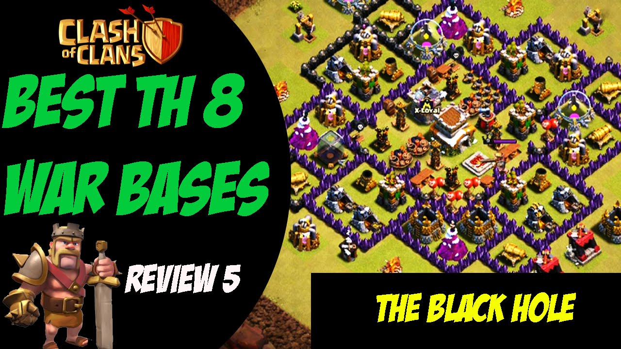 Th9 3 stars best th 8 war base design 5 clash of clans youtube