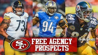 Live! Free Agency Need For Guards & Edge   49ers Still Favored For Antonio Brown