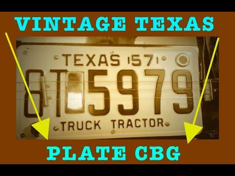 Texas License plate 3 String cigar box guitar by Bluesboy Jag