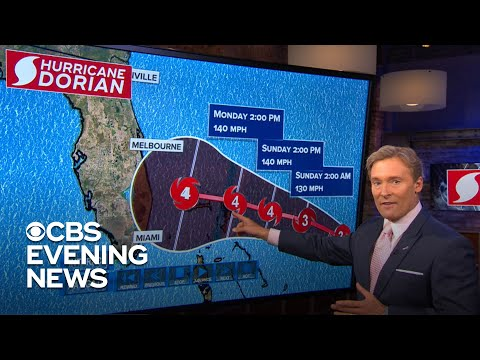 Hurricane Dorian could strike as a Category 4 storm - YouTube
