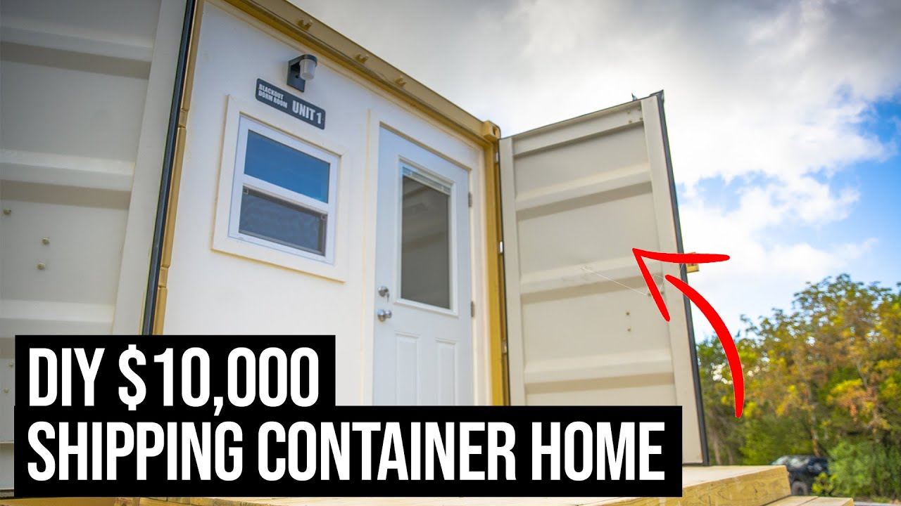 Check out my $10,000 SHIPPING CONTAINER HOME | 20ft Shipping Container Home Tour