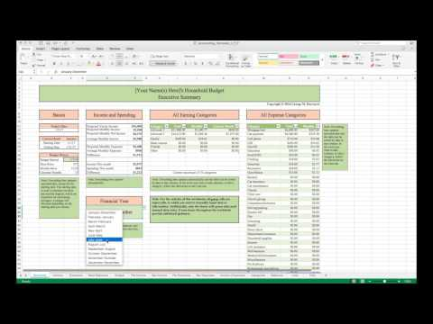 Household Budget Template and Tutorial (Excel)
