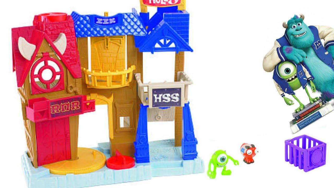 Monsters University Row Playset Imaginext Sorority House Disney Pixar Inc Youtube