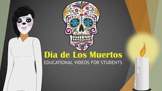 Dia de Los Muertos (Lesson) Educational Video for Students (Halloween Cartoons for Children) CN