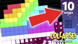 Collapse! Puzzle Gallery levels 1 - 11 BEST SOLUTIONS