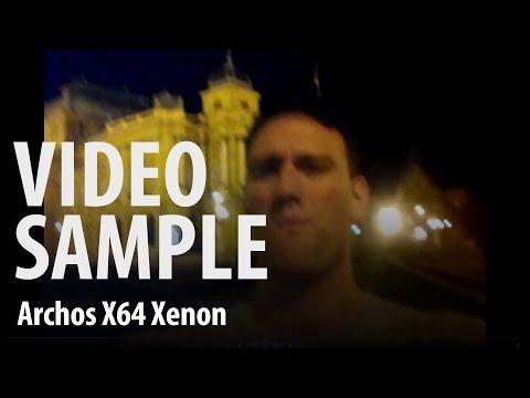 Archos 64 Xenon : front camera night video sample