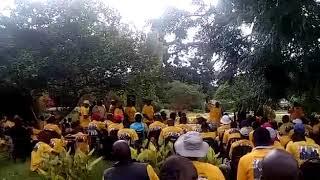 Sarah Mahoka chants Zanu-PF at NPF rally
