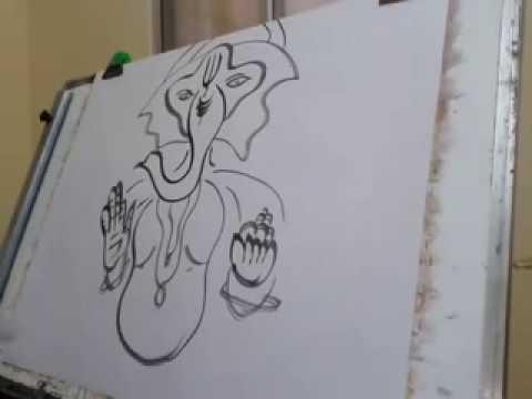 Ganesha Painting Sai Amarender Art Modern