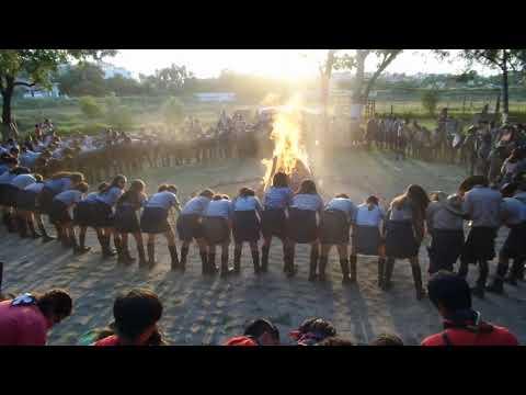 Scout Camp Fire Stunt