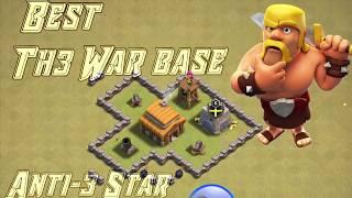 BEST TH3 WAR BASE-Anti-3 Star (Clash Of Clans)