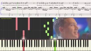Мир, который подарил тебя - Киреев А.(Ноты и Видеоурок для фортепиано) (piano cover)