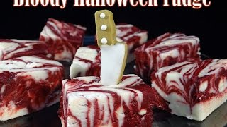 "Halloween ""Blood"" Fudge- with yoyomax12"