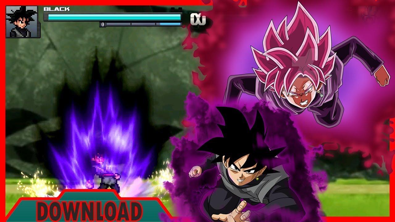 Goku Black Transform base,SSJ ROSE (JUS) MUGEN by Inseph