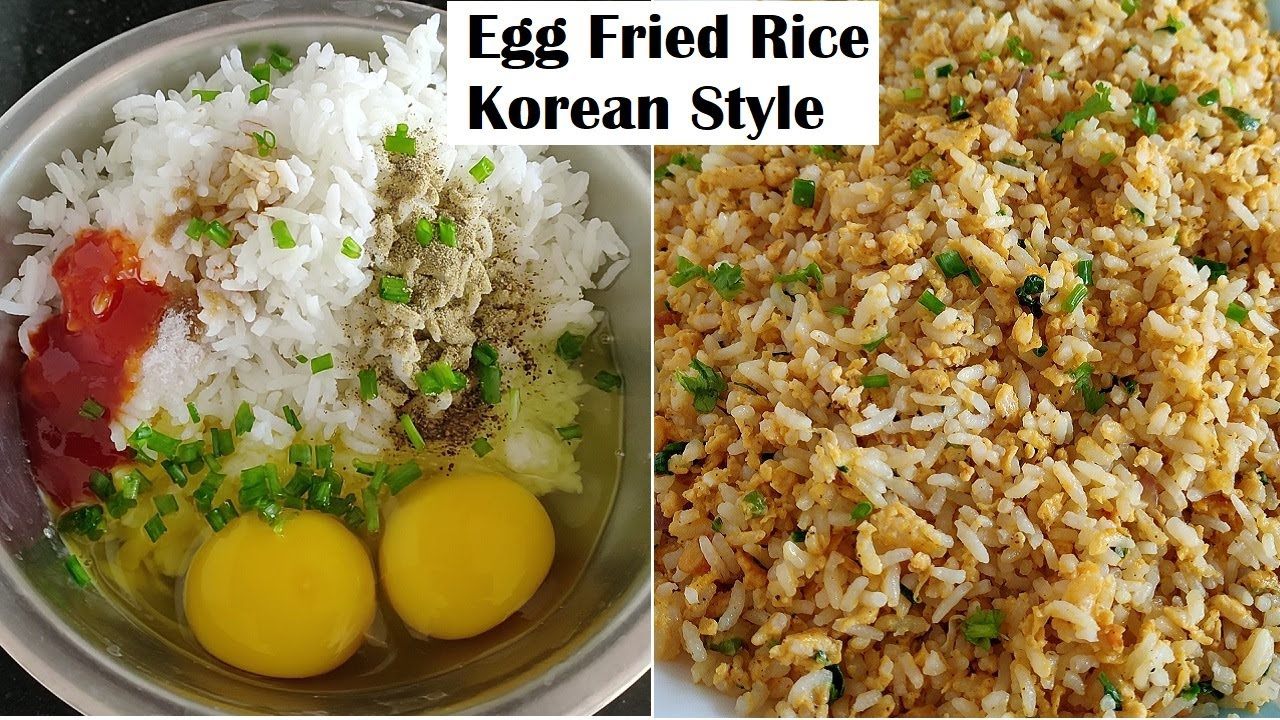 5 Minutes Egg Fried Rice In Korean Style Quick Lunch Box Recipe