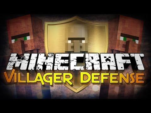 Minecraft: Villager Defense - Work as a Team!