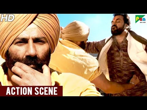 Sunny Deol Fight Scene With Goons | Singh Saab The Great | Popular Hindi Movie