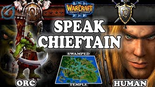 Grubby | Warcraft 3 TFT | 1.30 | ORC v HU on Swamped Temple - Speak, Chieftain!