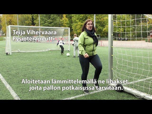 Ikäinstituutti: Pallon potkaisu, Kunnon eväät - liike 15