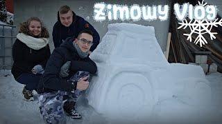 Lepimy ciągnik ze śniegu, Wiata w Mokrzynie, ZIMA 2017 ☆ Vlog - Go Pro Hero ㋡ MafiaSolec & Bronczek