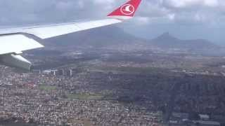Landing in Cape Town International. Turkish Airlines. April 2015.
