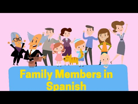 Members of the family in Spanish