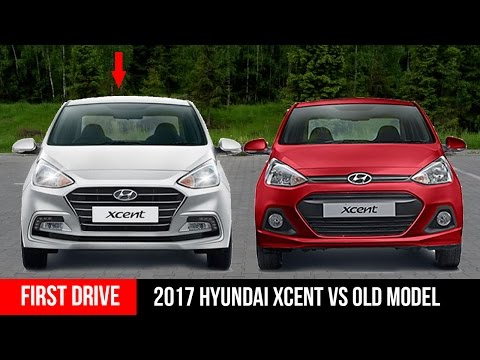 2017 Hyundai Xcent Facelift New Vs Old model FirstDrive