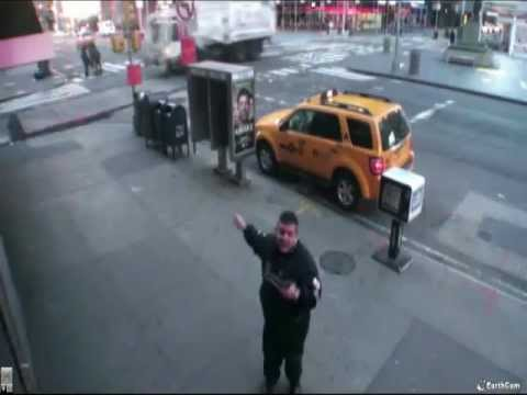 Taxi driver at Times Sq. - 46th St. & Broadway - March 10, 2012 - 6:21am