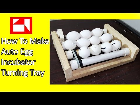 How to make auto egg turner - egg rolling tray - automatic incubator tray - incubator 360 tray
