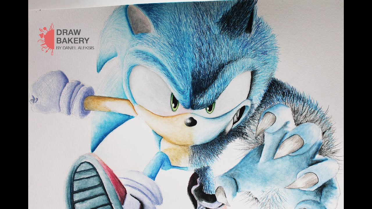Speed Drawing Sonic The Hedgehog Sonic Unleashed Youtube