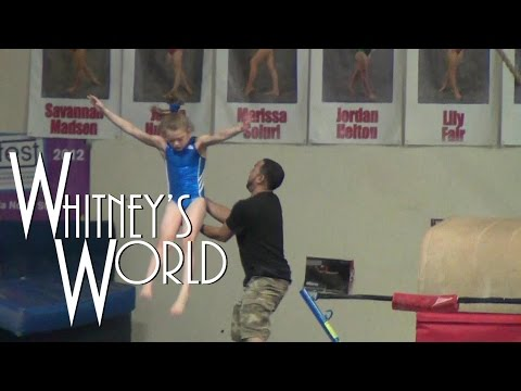 Whitney in the Gym | Gymnastics Layouts Flips and Flops