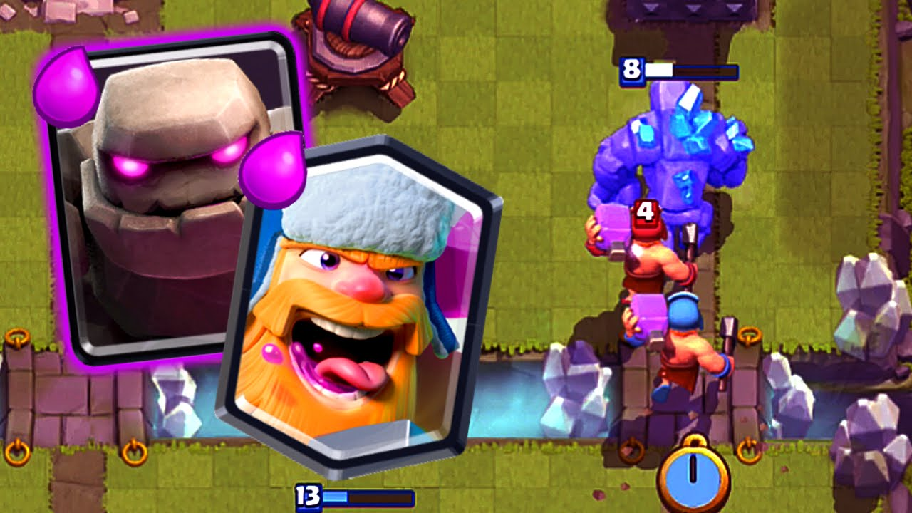 Clash Royale Golem Lumberjack Easy 3 Crowns Youtube