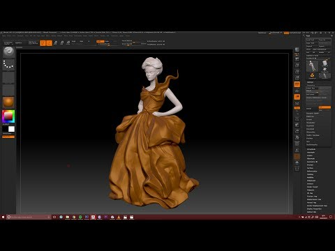Quick sculpting of clothes in Zbrush (TIMELAPSE)