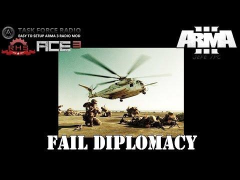 [ArmA 3](MISIÓN RECOMENDADA) Fail Diplomacy - Coop.40 Gameplay en Español [1080p Ultra Settings]