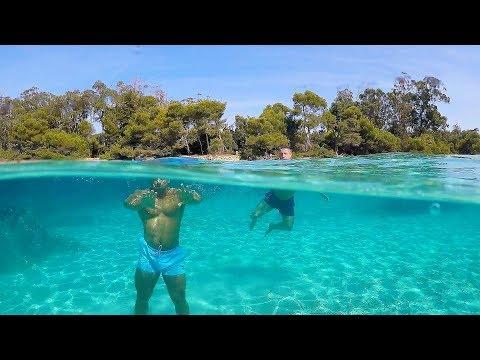 Ile Sainte Marguerite CANNES Côte d'azur....La piscine de la Côte d'Azur aux îles de Lérins