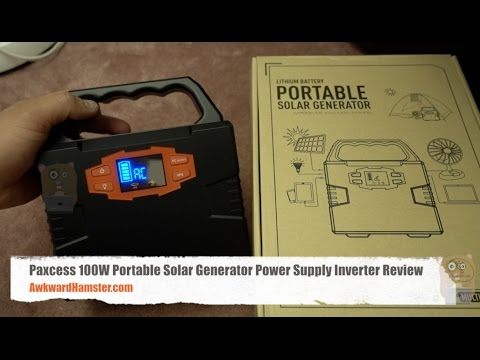 Paxcess 100w Portable Solar Generator Power Inverter