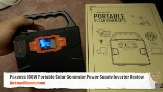 Paxcess 100W Portable Solar Generator Power Inverter Review
