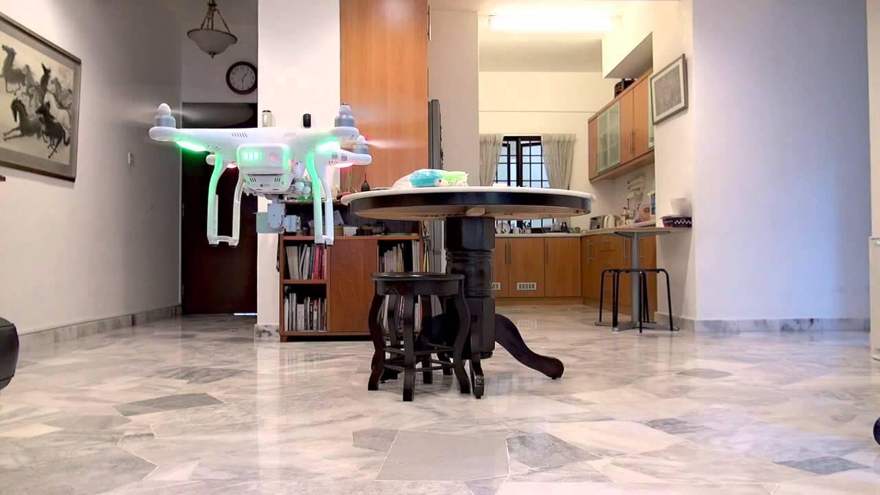 how to fly dji phantom 3 standard indoors