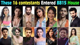 Final Confirmed List of 16 Contestants of Bigg Boss 15 Entered House on Premier Night Salman Khan