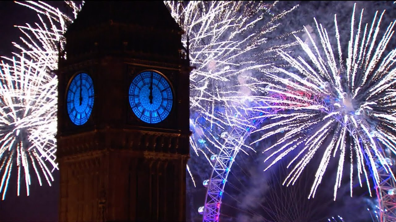London Fireworks 2016   New Year s Eve Fireworks   BBC One   YouTube