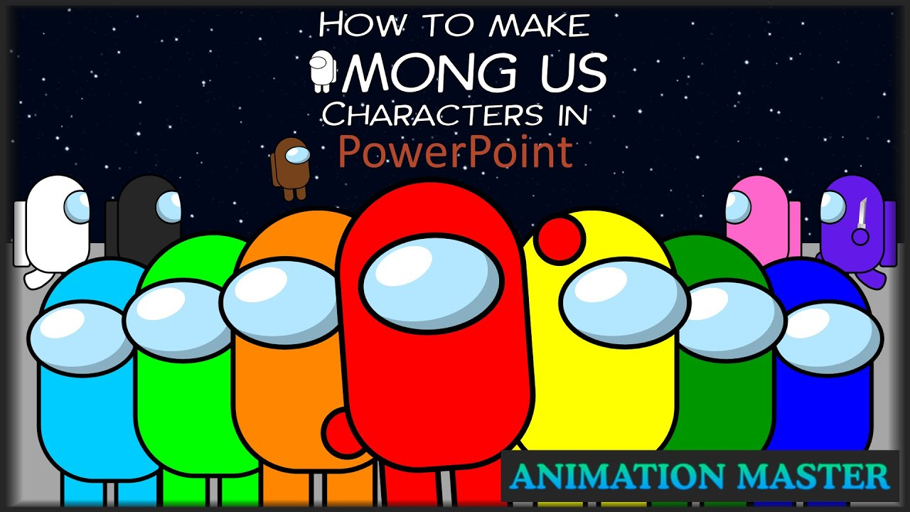 How To Make Among Us Characters In Powerpoint Youtube
