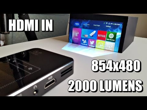 Awesome Mini DLP LED Video Projector - HD READY 1080p - 2000 Lumens