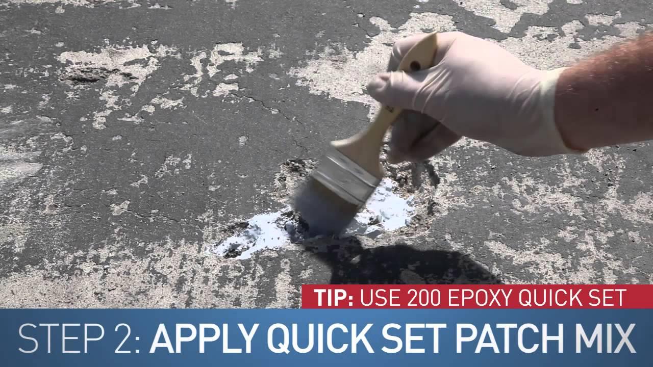 How To Repair Concrete Concrete Solutions 174 Quick Set