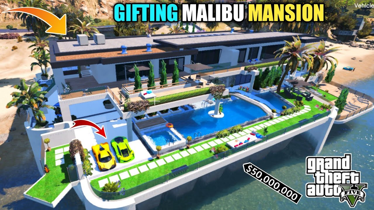 GTA 5 : GIFTING MICHAEL $70 MILLION DOLLAR MALIBU MANSION || BB GAMING