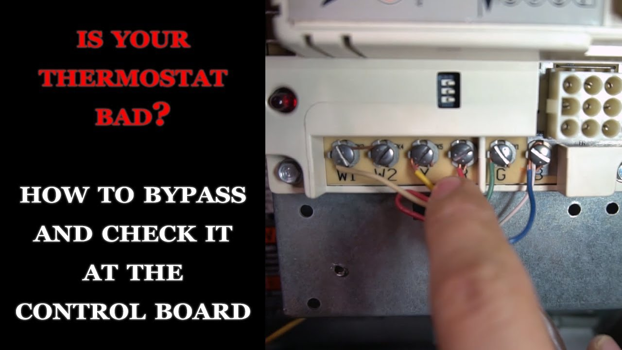 How to Bypass Thermostat at The Control Board
