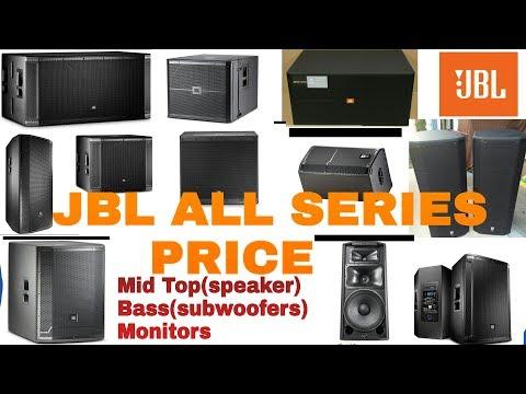 Original JBL Speakers,bass(subwoofers), Monitors Prices All Series