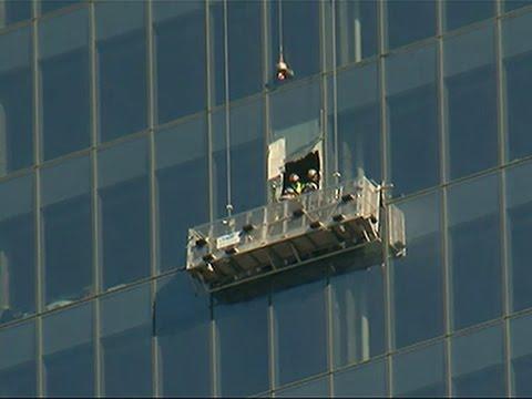 Raw: Workers Begin Repairs to WTC Window