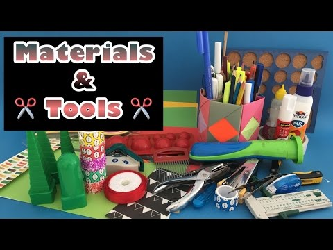 """MATERIALS & TOOLS"" I use for my Origami and Crafts #700"