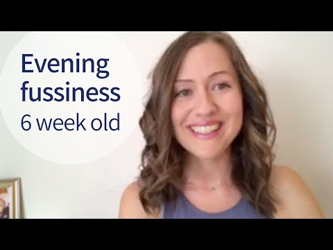 6 Week Old Newborn Fussiness & Witching Hour TIPS