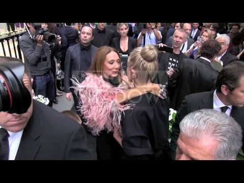 Sharon Stone and her son Quinn Kelly Stone met Marisa Benson at Fendi  party in Paris