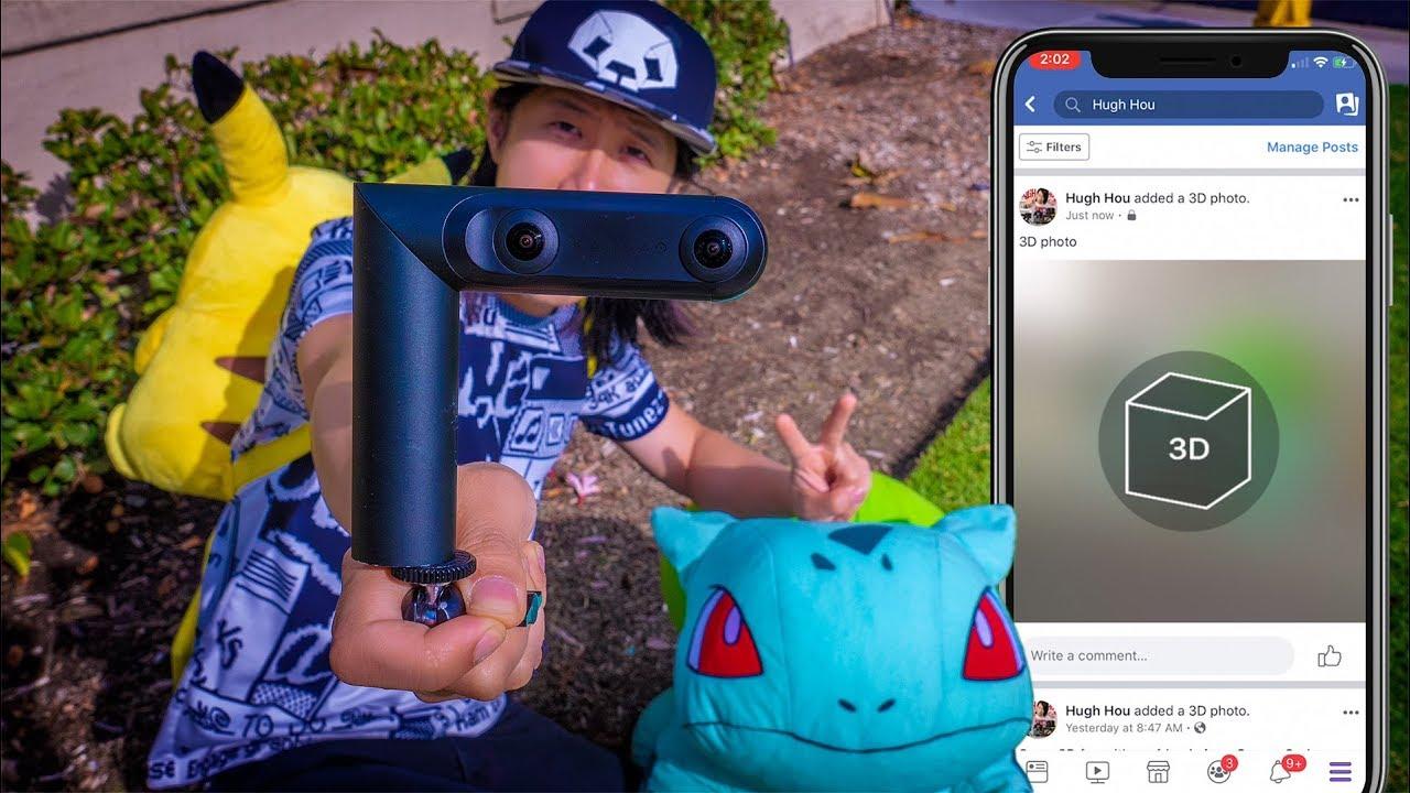 How to Facebook 3D Photo w/ iPhone or Kandao Qoocam 3D depth map camera
